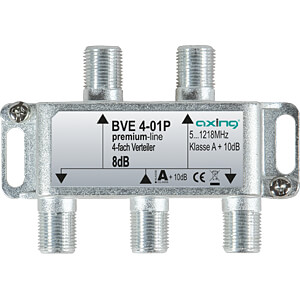 BK-Verteiler, 4-fach, 6,9 - 8 dB AXING BVE00401P