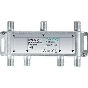Verteiler, 5-1218 MHz, 6-fach, 8,5 - 10,1 dB AXING BVE00601P