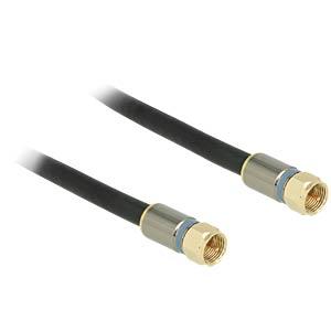Kabel F Stecker > F Stecker RG-6/U 3,0 m DELOCK 88943