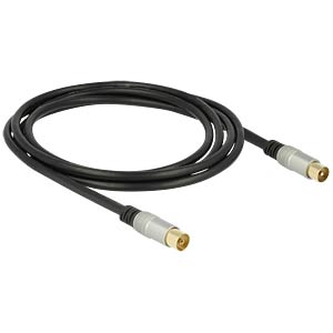 Kabel IEC Stecker > IEC Buchse RG-6/U 2,0 m DELOCK 88946