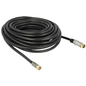 F plug > IEC plug cable, RG-6/U 10.00m DELOCK 88955