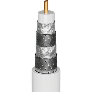 Antennenanschlusskabel (IEC) (135 dB typ) 4x geschirmt, 2,0 m GOOBAY 70461