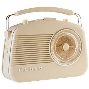Retro radio, beige KÖNIG HAV-TR710BE