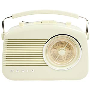 Retro-Radio, beige KÖNIG HAV-TR710BE