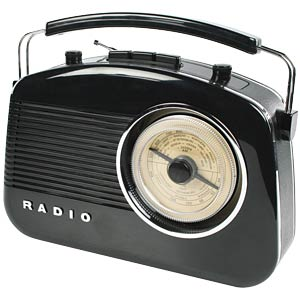 Retro radio, black KÖNIG HAV-TR710BL