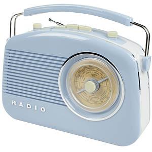 Retro radio, blue KÖNIG HAV-TR710BU