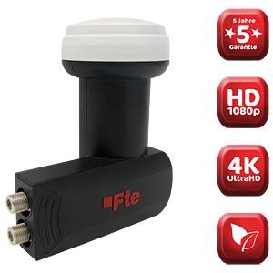 LNB, Twin, 40 mm, UHD 3D geeignet FTE MAXIMAL 0400302