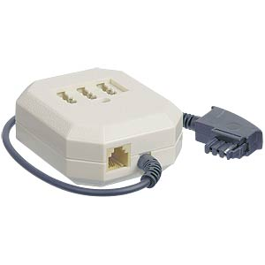 TAE F plug/3xTAE socket, NFF connectors, 0.1 m FREI