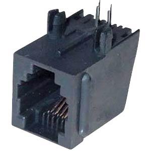 Modular panel jack 6/4, black FREI