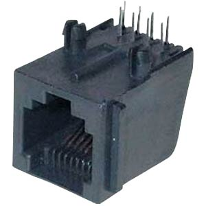 Modular panel jack 6/6, black FREI