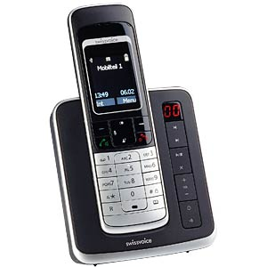 Cordless analogue telephone (DECT) with answering machine SWISSVOICE 20407204
