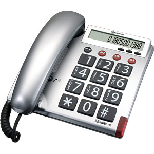 Big button telephone with cord AMPLICOMMS 906504