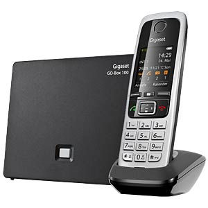 DECT telephone, 1 handset, answering machine, black GIGASET COMMUNICATIONS S30852-H2726-B101