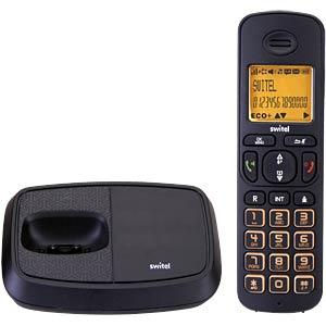 DECT Telefon, 1 Mobilteil mit Ladeschale, schwarz SWITEL DC5901 WIZARD