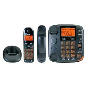 DECT Telefon, 1 schnurgebunden, 1 Mobilteil, AB, schwarz SWITEL DCT50072 C VITA