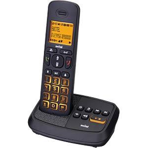 DECT Telefon, 1 Mobilteil mit Ladeschale, AB, schwarz SWITEL DCT59071 WIZARD