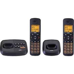 DECT Telefon, 2 Mobilteil mit Ladeschale, AB, schwarz SWITEL SWITEL DCT59072 WIZARD