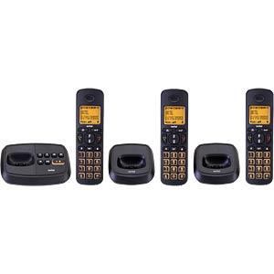 DECT Telefon, 3 Mobilteil mit Ladeschale, AB, schwarz SWITEL DCT59073 WIZARD