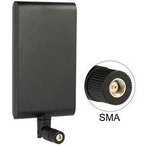 LTE aerial, SMA, black, joint DELOCK 88971
