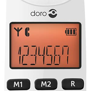 Cordless telephone - large buttons - black DORO 380098
