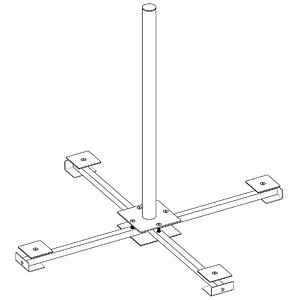 Stainless steel balcony stand DUR-LINE 21031