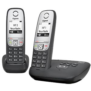 DECT phone, 2 handsets, answering phone, black GIGASET COMMUNICATIONS L36852-H2525-B101