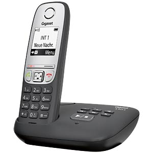 DECT telephone, 1 handset, AB, black GIGASET COMMUNICATIONS S30852-H2525-B101