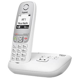 DECT telephone, 1 handset, AB, white GIGASET COMMUNICATIONS S30852-H2525-B102