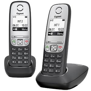 DECT telephone 2 handsets, black GIGASET COMMUNICATIONS L36852-H2505-B101