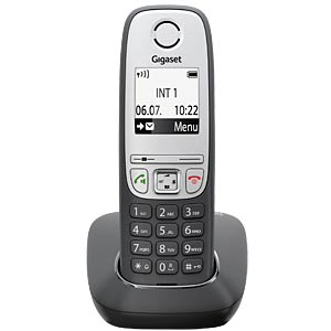 DECT telephone, 1 handset, black GIGASET COMMUNICATIONS S30852-H2505-B101