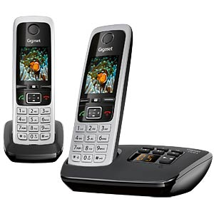 DECT telephone, 2 handsets, answering machine, black GIGASET COMMUNICATIONS L36852-H2522-B101