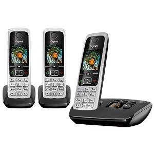 DECT-Telefon, 3 Mobilteile, AB, schwarz GIGASET COMMUNICATIONS L36852-H2522-B111