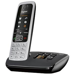 DECT Telefon, 1 Mobilteil, AB, schwarz GIGASET COMMUNICATIONS S30852-H2522-B101