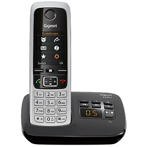DECT telephone, 1 handset, answering machine, black GIGASET COMMUNICATIONS S30852-H2522-B101
