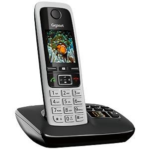 DECT-Telefon, 1 Mobilteil, AB, schwarz GIGASET COMMUNICATIONS S30852-H2522-B101