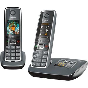 DECT Telefon, 2 Mobilteil mit Ladeschale, AB, schwarz GIGASET COMMUNICATIONS L36852-H2532-B101