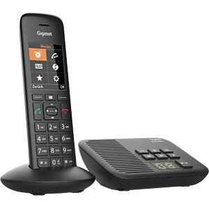 DECT Telefon, 1 Mobilteil mit Ladeschale, AB, schwarz GIGASET COMMUNICATIONS S30852-H2831-B101