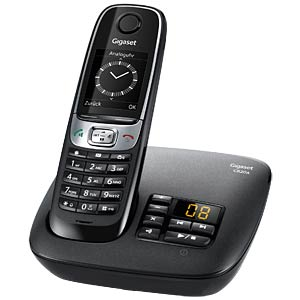 DECT-Telefon, 1 Mobilteil, schwarz GIGASET COMMUNICATIONS S30852-H2423-B101