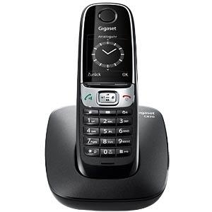 DECT-Telefon, 1 Mobilteil, schwarz GIGASET COMMUNICATIONS S30852-H2403-B101