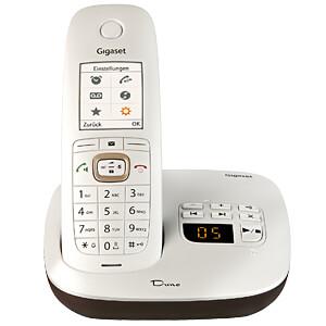 DECT-Telefon, 1 Mobilteil, AB,perlmuttweiß/braun GIGASET COMMUNICATIONS S30852-H2622-B101
