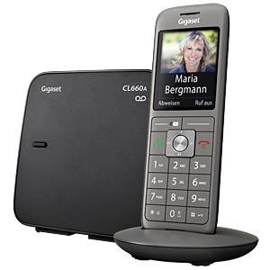 DECT Telefon, 1 Mobilteil mit Ladeschale, AB, schwarz GIGASET COMMUNICATIONS S30852-H2824-B101