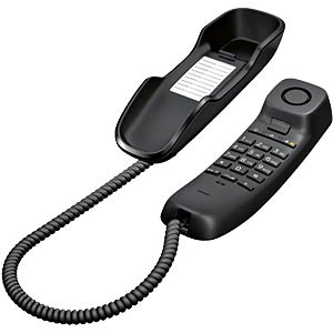 Telephone, with cord, black GIGASET COMMUNICATIONS S30054-S6527-B101
