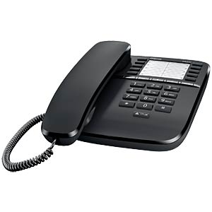 Telephone, with cord, black GIGASET COMMUNICATIONS S30054-S6530-B101