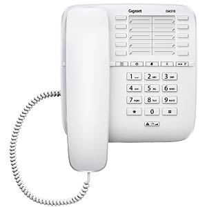Telephone, with cord, white GIGASET COMMUNICATIONS S30054-S6530-B102