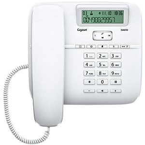 Telephone, with cord, white GIGASET COMMUNICATIONS S30350-S212-B102
