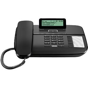 Telephone, with cord, black GIGASET COMMUNICATIONS S30350-S213-B101
