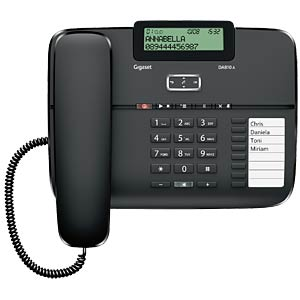 Corded phone with TAM, black GIGASET COMMUNICATIONS S30350-S214-B101