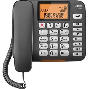 Telefon, schnurgebunden, Großtasten, schwarz GIGASET COMMUNICATIONS S30350-S216-B101