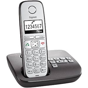 DECT telephone, 1 handset, answering phone, anthracite GIGASET COMMUNICATIONS S30852-H2321-B102