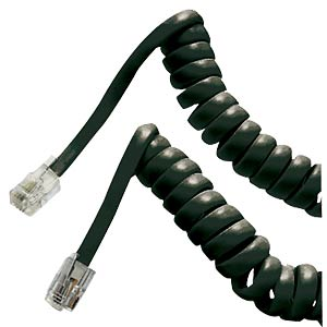 Telephone handset cable/2 m/black FREI
